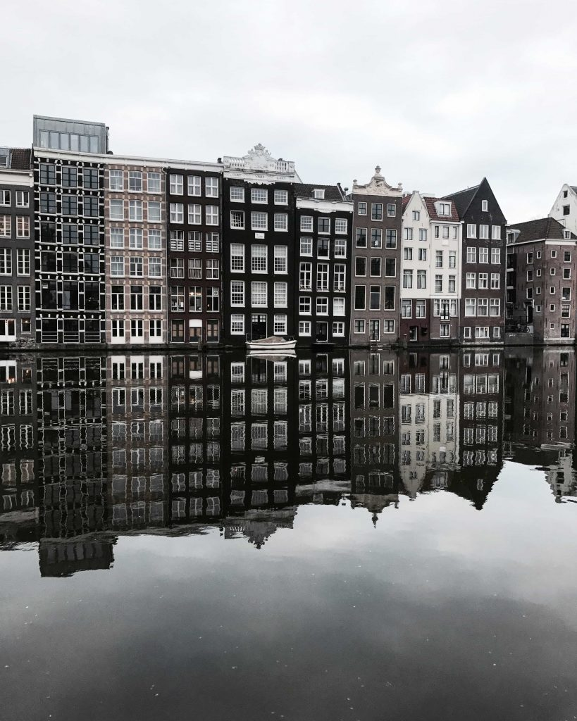 Amssterdam canal reflection