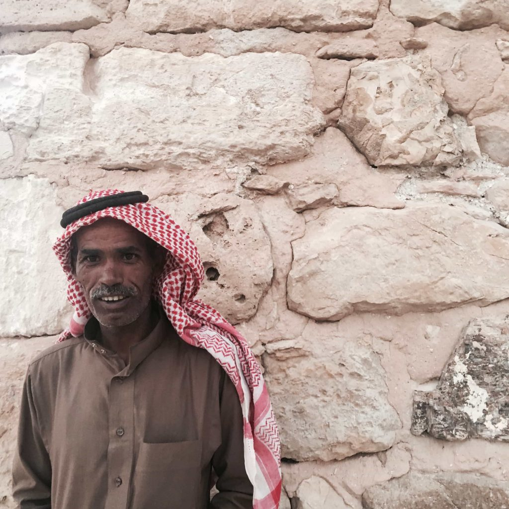 Local Fort guardian in the small town of Shobak in Jordan Taken in July 2016